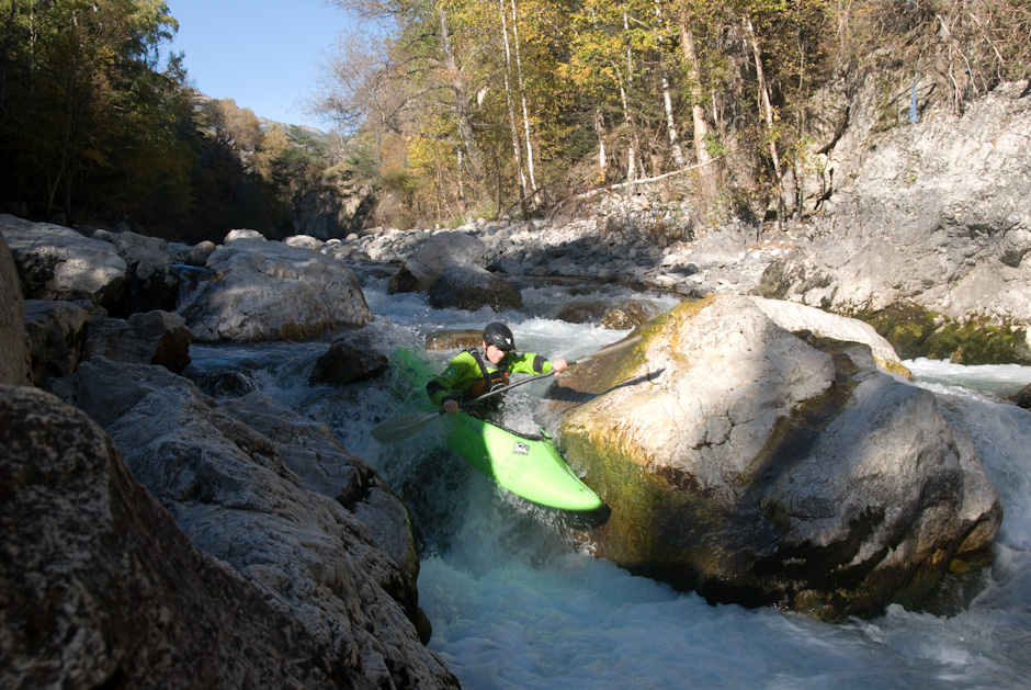 kayaking gorge de la Durance